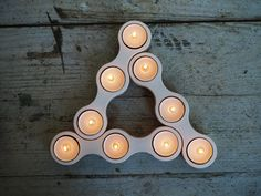 Wooden Tea Light Candle Holder White - Candle Holder Wood - Modular Candle Holder Centerpiece -Tea light Candle Holder Plywood Birch White Candle Holders, Tealight Candle Holders, Tea Light Holder, Candle Making, Candlesticks, Chandelier, Tea Lights, Woodworking Projects, Home Accessories