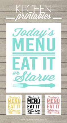 Free Kitchen Printables - thecraftedsparrow.com #SideKickSmoothie #Pediasure
