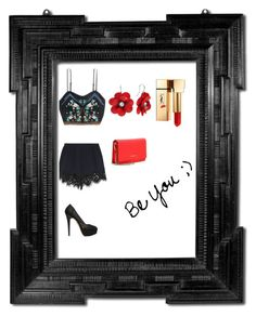 """""""BU"""" by amra-husejnovic ❤ liked on Polyvore featuring Chloé, Charlotte Olympia, Yves Saint Laurent and Givenchy"""