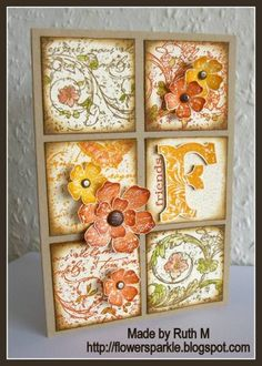 Very Vintage Friends Grid Card by FubsyRuth - Cards and Paper Crafts at Splitcoaststampers