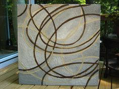 Painting 4 Ft Huge Original Abstract Texture Modern White