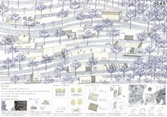 Shelter housing competition winning proposal Architecture Panel, Architecture Graphics, Space Architecture, Architecture Drawings, Architecture Visualization, Architecture Details, Landscape Diagram, Landscape Model, Landscape And Urbanism
