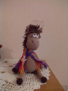 crocheted horse