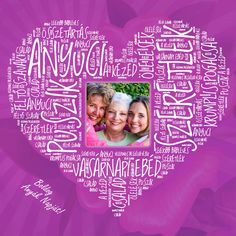 Anyák napi egyedi ajándék vászonkép betűkép Birthdays, Frame, Christmas, Valentin Nap, Gifts, Product Design, Gift Ideas, House, Anniversaries