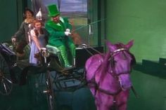 In the classic movie-musical, The Wizard of Oz, the many-hued Horse of a Different Color that leads Dorothy and gang through the Emerald City wasn't actually painted. Instead, animal rights activists advocated that the white horse be sponged with different flavors (and colors) of gelatin and then physically restrained from licking it off