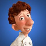 *LINGUINI ~ a timid and well-meaning young man, is the new garbage boy at Gasteau's. Ratatouille Film, Ratatouille Disney, Ratatouille Characters, Pixar Characters, Disney Pixar Movies, Disney Cartoons, Disney Fun, Walt Disney, Disney Crafts