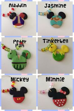 DIY your photo charms, compatible with Pandora bracelets. Make your gifts special. Make your life special! Disney Wine Charms by LotsOfHappiness on Etsy Disney Clay Charms, Polymer Clay Disney, Polymer Clay Crafts, Resin Crafts, Crafts For Teens To Make, Crafts To Sell, Easy Crafts, Diy And Crafts, Disney Diy Crafts