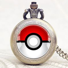 Pokemon Poke Ball Quartz Pocket Watch
