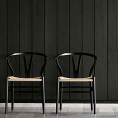 Black Wishbone Chair - Wegner