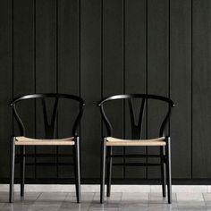 Black Wishbone Chair - Wegner