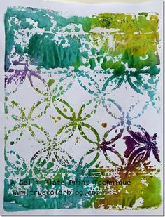 A Gelli Plate Print Technique: Water it Down | True Color art journal, mixed media inspiration.