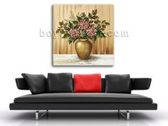Beautiful 1-panel giclee print on artist canvas with bouquet in still life style. It is available in numerous sizes to fit any size room!