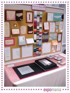 Wedding expo, invitation Display