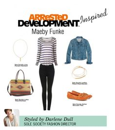 """""""Arrested Development Inspired: Maeby Funke"""" by solesociety ❤ liked on Polyvore featuring Miss Selfridge, Madewell, Velvet and Sole Society"""