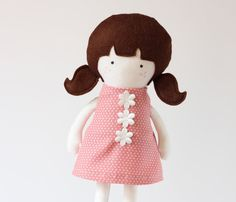 Items similar to Girl Doll Clothes Pink White Dotted Cotton Dress Sleeveless Back cut out dress with flowers applique - Fit My 12 inch Fashion Dolls on Etsy Girl Doll Clothes, Girl Dolls, Pretty In Pink, Flower Dresses, Cotton Dresses, Fashion Dolls, Nursery Decor, Pink White, Hello Kitty