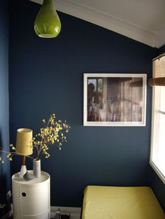 Love this blue for the downstairs living room Navy Living Rooms, Condo Living, Dining Room Light Fixtures, Dining Room Lighting, Bedroom Color Schemes, Bedroom Colors, Bedroom Ideas, Dark Blue Rooms, Living Room Update