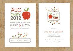 a modern wedding blog: Fresh Design: Apple of my Eye Wedding Invitation