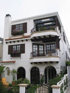This contemporary Spanish home was recently renovated with a fresh modern style.