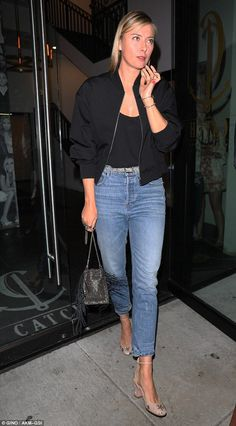 Ace your off-duty with Valentino pumps like Maria #DailyMail  Click 'Visit' to buy now