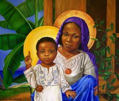 Black Madonna and Child Blessed Mother Mary, Divine Mother, Blessed Virgin Mary, Religious Images, Religious Icons, Religious Art, Images Of Mary, Black Jesus, Queen Of Heaven