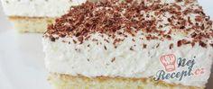 Sněhový zákusek s meruňkovou marmeládou Vanilla Cake, Food, Vanilla Sponge Cake, Meal, Essen, Hoods, Meals, Eten