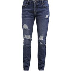 Even&Odd Relaxed fit jeans dark blue denim ❤ liked on Polyvore featuring jeans, relaxed fit jeans, dark blue jeans, dark blue denim jeans, denim jeans and relaxed jeans