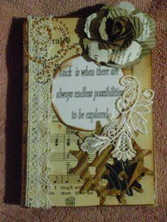 Altered book  and cardboard Donna rose -Rocks