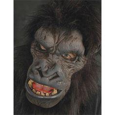 Adult Go-Rilla Latex Mask Size: Osfm. Adult Go-Rilla Latex Mask Men's Black Deer Halloween Costumes, Scary Costumes, Adult Halloween, Scary Halloween, Adult Costumes, Cheap Halloween, Halloween Ideas, Halloween Decorations, Sully And Boo Costume