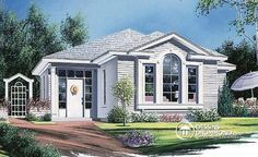Discover the plan 2118 - from the Drummond House Plans house collection. Total living area of 1116 sqft. Drummond House Plans, Split Foyer, Home Design Floor Plans, Bed Plans, Small House Plans, European Fashion, Tiny House, Gazebo, Exterior