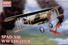 SPAD XIII, Italian Air Force. Academy, 1/72, injection, No.12446. Price: 2,78 GBP.