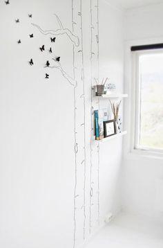 Home decor idea. This is so pretty and minimalistic
