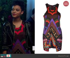 Sophia's mixed print dress on Eye Candy.  Outfit Details: http://wornontv.net/42919/ #EyeCandy