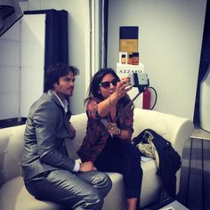 Ian Somerhalder - 21/05/15 - La #selfie interview de iansomerhalder avec @Lesliebenaroch #cannes2015 @azzaro_official  https://twitter.com/laurentguyot/status/601396231999528960 - Twitter / Instagram Pictures