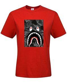 369c6776651 DIY Bape Shark Bomber Men s 100% Cotton Short Sleeve T-Shirt