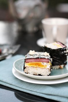 spam, egg, rice, nori = best brekkie ever!! it's called musubi and it's a hawaiian ingenuity