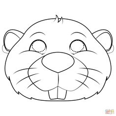 Beaver Mask coloring page | Free Printable Coloring Pages Animal Coloring Pages, Coloring Pages For Kids, Coloring Sheets, Coloring Books, Kindergarten Coloring Pages, Kindergarten Crafts, Printable Crafts, Free Printables, Beaver Animal