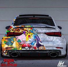 Audi Pokémon Design - Design by LiLa Ceylan - Autos Audi Rs3, Audi R8 V10, Bmw Autos, Audi Sport, Sport Cars, Carros Audi, Design Autos, Audi A5 Coupe, Luxury Sports Cars