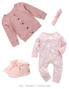 Long sleeve baby girls jumpsuit Lovely matching headband Trendy style and print Daytime or nighttime use Fashion Kids, Toddler Winter Fashion, Little Kid Fashion, Baby Girl Fashion, Fashion Women, Cheap Fashion, Fashion Trends, Kids Clothing Brands List, Cheap Kids Clothes Online