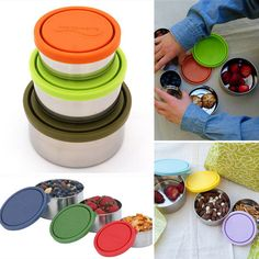 Pin for Later: Must-Have Products to Keep Portions Under Control Kids Konserve Nesting Trio Healthy Menu Plan, Healthy Work Snacks, Healthy Options, Healthy Eating, Healthy Food, Clean Eating, Ww Recipes, Healthy Recipes, Portion Control Containers