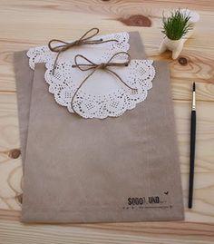 Tutorial de Artesanías: Adornos con blondas o carpetas de papel