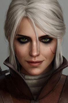 Face texture inspiration Take closer look at the scar and lips. Witcher 3 Art, Yennefer Witcher, The Witcher Game, Yennefer Of Vengerberg, Witcher 3 Wild Hunt, Witcher Wallpaper, Video Games Girls, Video Game Art, Caricature