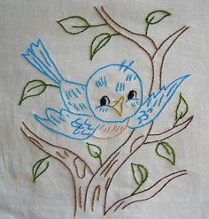Blue Bird quilt square by sewclever, via Flickr