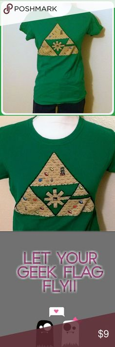 ⚠️ It's Dangerous To Mow Alone, Wear This! It's dangerous to mow alone, wear this! Legend of Zelda Link Mowing Hyrule - wear this when your searching Hyrule for rupees!!   - Link just out looking for rupees and mowing the lawns of Hyrule! - shirt never worn. Tops Tees - Short Sleeve