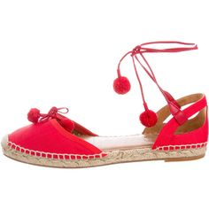 Pre-owned Aquazzura Canvas Espadrille Flats ($245) ❤ liked on Polyvore featuring shoes, flats, black, round toe lace up flats, black espadrille flats, black flats, black lace up espadrilles and lace up flats