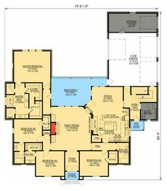 Great layout for family of 4 & guest room /Study too