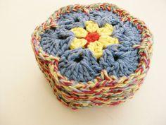 Crochet Flower Coasters-Set of 6 African Flower by RoseJasmine