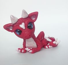 Polymer Clay Valentines Dragon Twisted & Troublesome Friends  January 2015