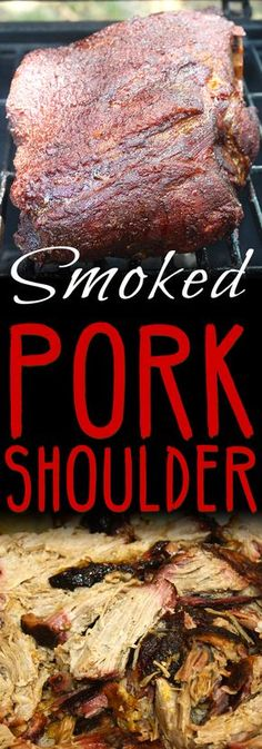Smoked Pork Shoulder - This recipe and method produces a juicy, tender, perfectly smoked pork butt/shoulder EVERY TIME! Cooking Pork Shoulder, Pork Shoulder Recipes, Boneless Pork Shoulder, Pork Shoulder Roast, Smoked Pork Shoulder Rub, Traeger Recipes, Smoked Meat Recipes, Grilling Recipes, Pork Recipes