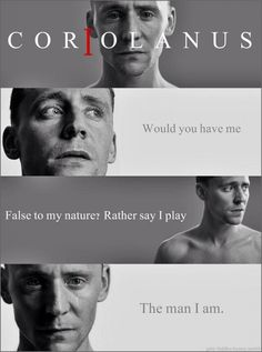 Tom Hiddleston in Coriolanus.REALLY wish I could have seen this!