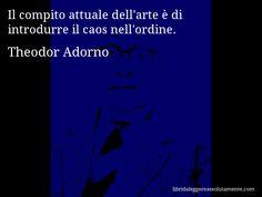 Cartolina con aforisma di Theodor Adorno (0)